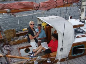 Alasdair, Philomena and Karen, Swedish skagerrak, summer 08