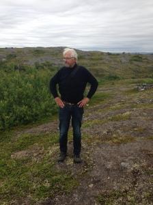 a little mountain hike in Kirkenes / with a beard