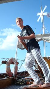 Morten at the helm c 2008