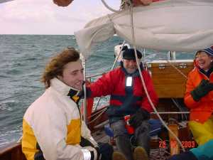 peter&richard gregson sail to dartmouth dec04