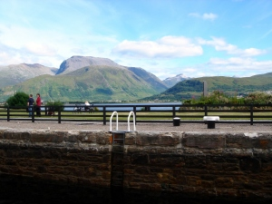 view of ben nevis from corpach locks