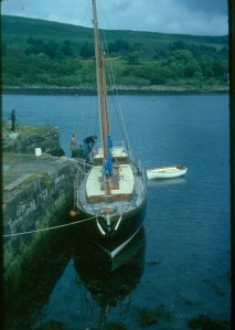 colena at pier, lochaline, c1981